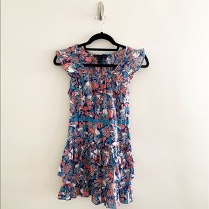 Marc by Marc Jacobs size 0 dress 3 tiered ruffles